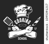 vintage cooking classes logo...   Shutterstock .eps vector #1095391217