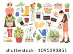 collection of two female... | Shutterstock .eps vector #1095393851