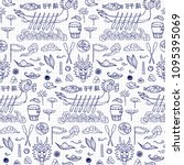 dragon boat festival doodle...   Shutterstock .eps vector #1095395069