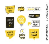 quick tips  helpful tricks... | Shutterstock .eps vector #1095395624