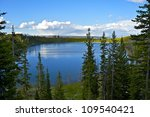 Yellowstone Lake in Yellowstone National Park, Wyoming, USA. Nature Photo Collection. Summer in the Yellowstone - Panoramic Photo