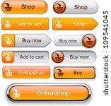 buy web orange buttons for... | Shutterstock .eps vector #109541045