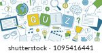 horizontal banner with hands of ... | Shutterstock .eps vector #1095416441