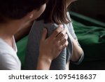 helping male hand holding... | Shutterstock . vector #1095418637
