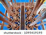 offshore construction platform...   Shutterstock . vector #1095419195