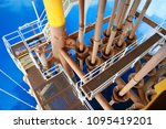 offshore construction platform...   Shutterstock . vector #1095419201