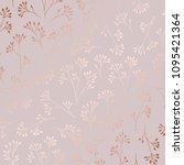 rose gold. elegant decorative... | Shutterstock .eps vector #1095421364