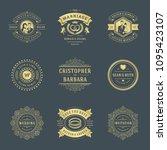 wedding labels and badges... | Shutterstock .eps vector #1095423107