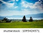 panorama of lake maggiore green ...   Shutterstock . vector #1095424571