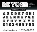 vector of futuristic alphabet... | Shutterstock .eps vector #1095428357