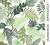 tropical background with palm...   Shutterstock .eps vector #1095432515