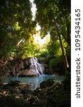 huai mae khamin waterfall in... | Shutterstock . vector #1095434165