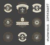 restaurant logos design... | Shutterstock .eps vector #1095436697