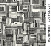 monochrome patchwork graphic... | Shutterstock .eps vector #1095437234