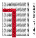 text pattern red line slogan... | Shutterstock .eps vector #1095437861