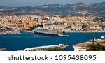 Small photo of May 19, 2016: Cueta, Spain- the cruise ship Oosterdam sits in the city of Cueta with mountain range behind