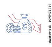 money loss vector illustration... | Shutterstock .eps vector #1095438764