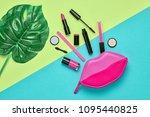 fashion cosmetic makeup minimal ...   Shutterstock . vector #1095440825