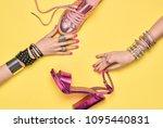 fashion. female hand  stylish...   Shutterstock . vector #1095440831