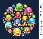 mineral vitamin multi... | Shutterstock .eps vector #1095447221