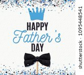 happy fathers day greeting card ... | Shutterstock .eps vector #1095448541