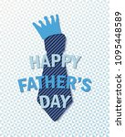 happy fathers day greeting... | Shutterstock .eps vector #1095448589