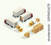 cargo logistics truck and... | Shutterstock .eps vector #1095451679
