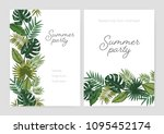 set of summer party invitation  ... | Shutterstock .eps vector #1095452174