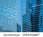 glass walls of a office... | Shutterstock . vector #1095456887