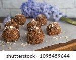 healthy organic energy granola... | Shutterstock . vector #1095459644