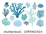 bundle of various corals and... | Shutterstock .eps vector #1095461414