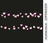 pink glitter hearts confetti on ... | Shutterstock .eps vector #1095465209