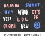 sweet  hey  whoa  it's ok  lol  ... | Shutterstock .eps vector #1095465614