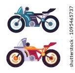 scooters motorized modern...   Shutterstock .eps vector #1095465737