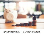 save money plan to new house... | Shutterstock . vector #1095469205