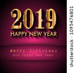 2019 happy new year background... | Shutterstock .eps vector #1095476801