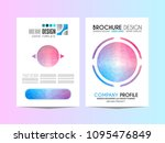 brochure template  flyer design ... | Shutterstock .eps vector #1095476849