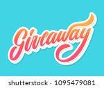giveaway banner. vector... | Shutterstock .eps vector #1095479081