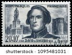 paris  france   june 13  1959 ... | Shutterstock . vector #1095481031