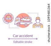 car accident concept icon. auto ... | Shutterstock .eps vector #1095481364