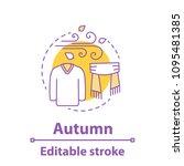 autumn season concept icon.... | Shutterstock .eps vector #1095481385