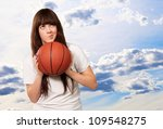 portrait of a young female with ... | Shutterstock . vector #109548275