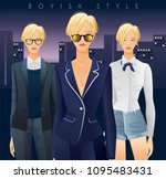 body template with outfits and...   Shutterstock .eps vector #1095483431
