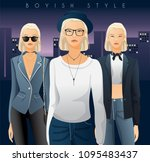 body template with outfits and...   Shutterstock .eps vector #1095483437