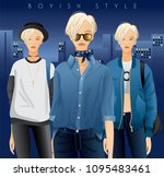 body template with outfits and...   Shutterstock .eps vector #1095483461