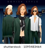 body template with outfits and...   Shutterstock .eps vector #1095483464