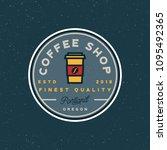 modern vintage coffee shop... | Shutterstock .eps vector #1095492365