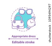 appropriate dress concept icon. ... | Shutterstock .eps vector #1095494297