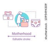 motherhood concept icon.... | Shutterstock .eps vector #1095494309