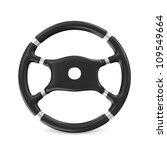 black steering wheel on white... | Shutterstock . vector #109549664
